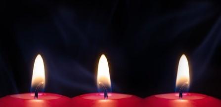 3 свечи
